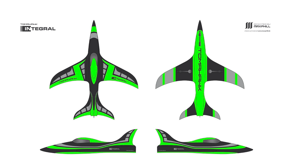 INTEGRAL 2,5m ARF-plus, painted, including tailpipe and tanks (A-green)