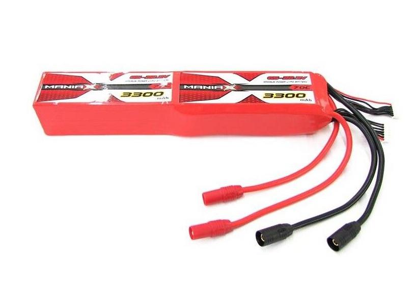 ManiaX 44.4V 3300mAh 70C Lipo Battery Pack : MX3300-12S-70
