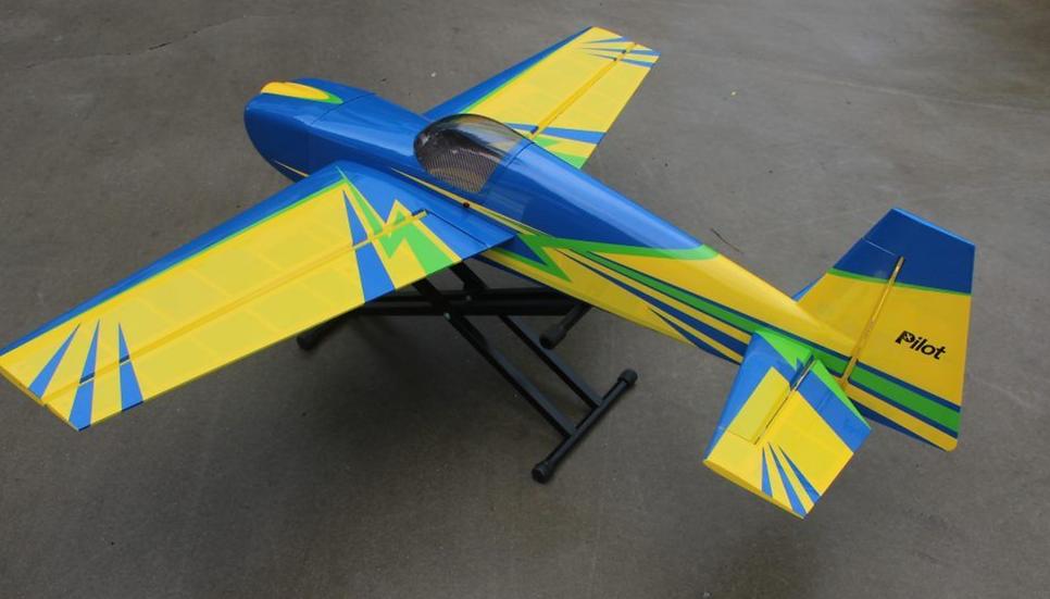 PILOT-RC EDGE-540 74IN (1.88M) (YELLOW/BLUE)