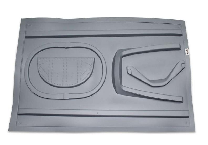 BAE Hawk Mk.66 2,7m Inlet canopy frame, seperation bar + window painted