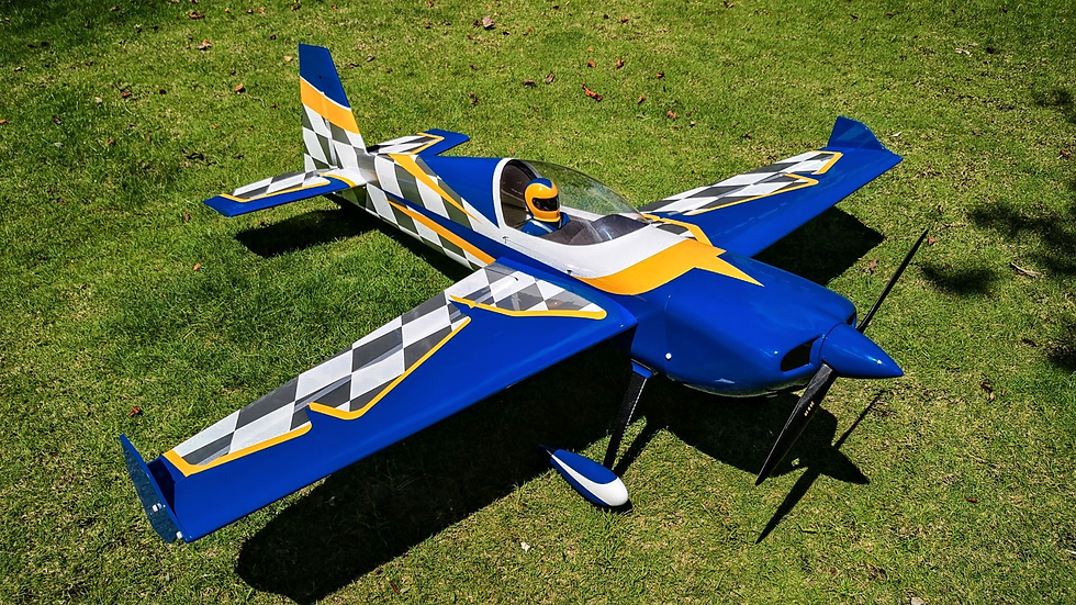 "Extreme Flight Slick 580 85"" blue/white"