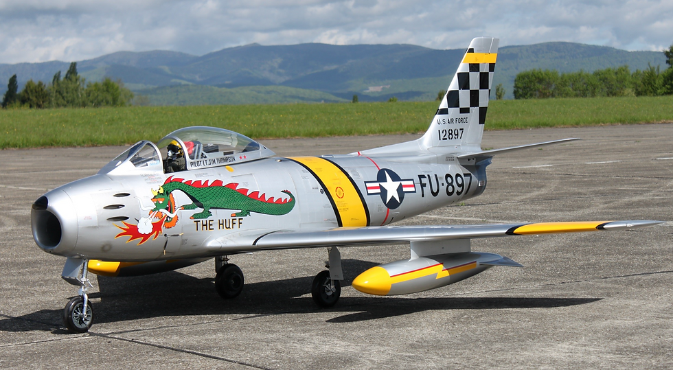 "F-86 3.1m wingspan Servo ready ""The Huff"""