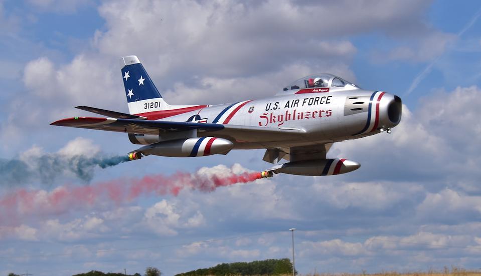 "F-86 3.1m wingspan servo ready ""Skyblazers"""