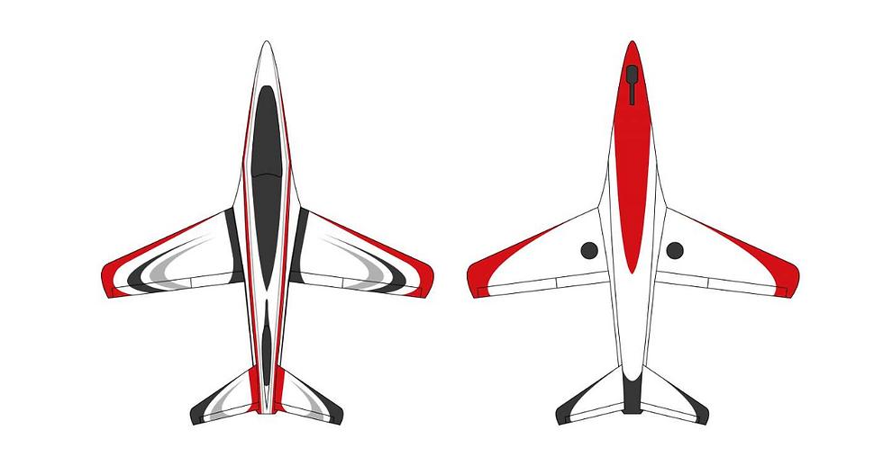 Futura 2,5 m full composite kit painted type C red/black