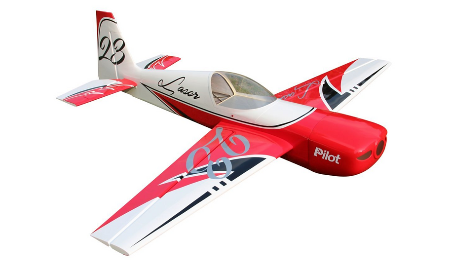 "Pilot RC Laser 73"" (Red/White/Black)"