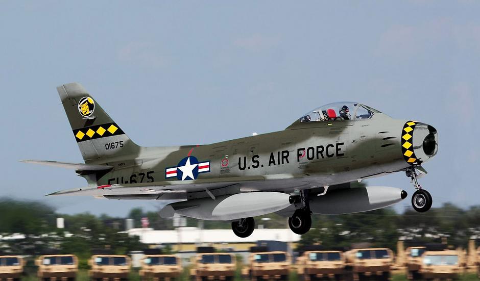 "F-86 3.1m wingspan servo ready ""green-gray"""