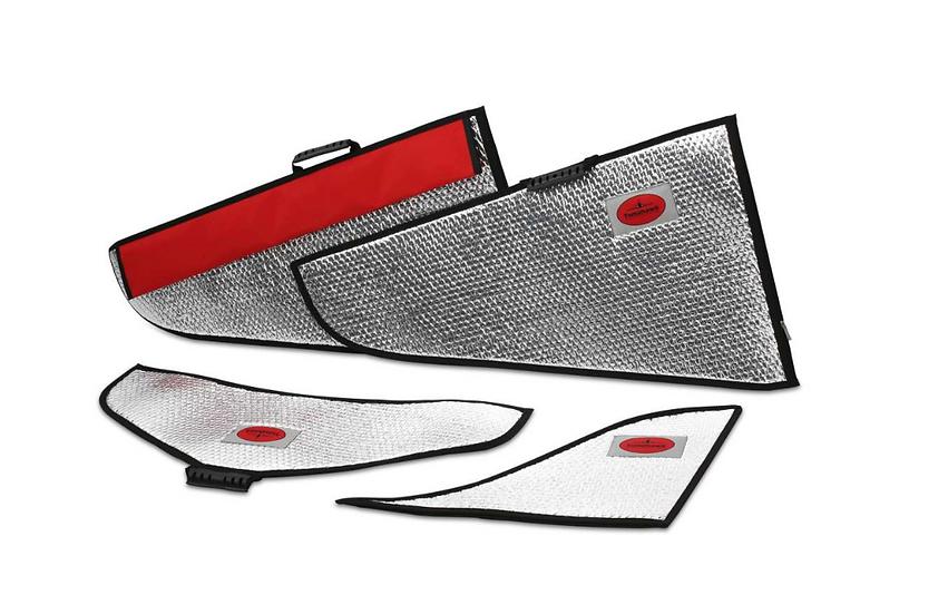 Futura 1,9m wing protection bag set silver