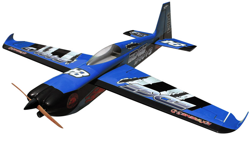 Pilot-RC 31% Edge-540 V3 92in (2.34m) (Blue/Black)