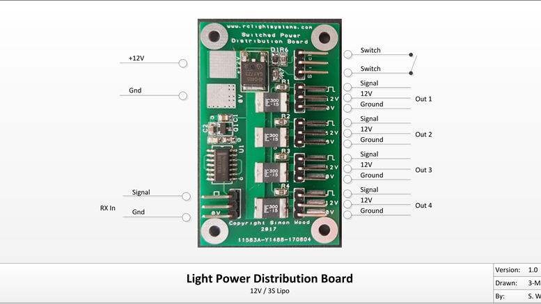 Switched Power Distribution Board
