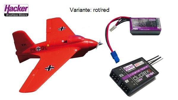 Hacker Me-163 Red BNF Jeti