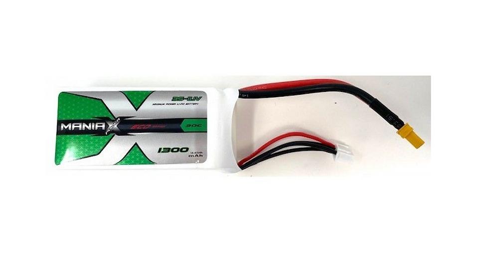 ManiaX 11.1V 1300mah 30C Lipo Battery Pack : MX1300-3S-30