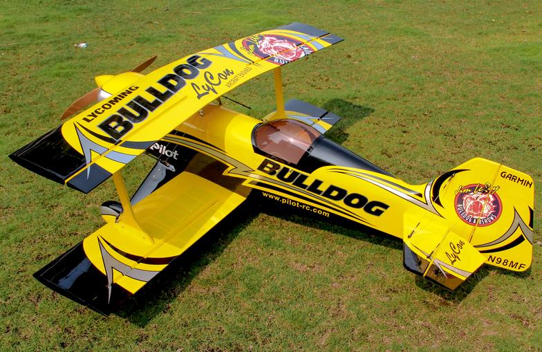 """Pitts Challenger – 87"""" (100cc) bulldog scheme"""