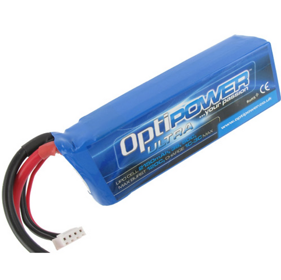 OPTIPOWER ULTRA 50C LITHIUM PACK 2150mAh