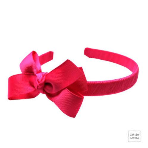 Lottie Nottie Alice Band, Solid Bright Pink