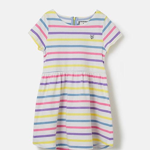 Lighthouse Ellie Short Sleeve Dress, Multi Stripe