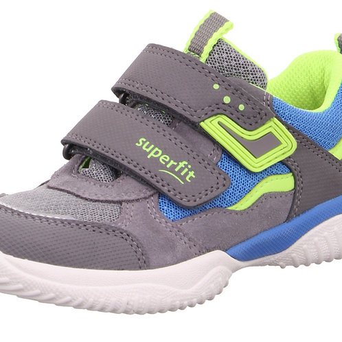 Superfit Storm Trainers, Light Grey/Yellow