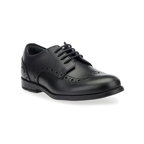 Startrite Brogue Pri, Black Leather School Shoes