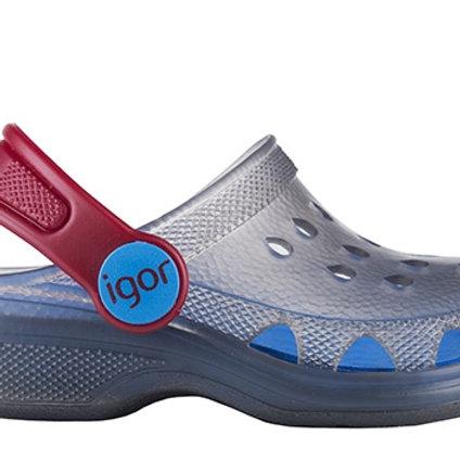 Igor Poppy Jelly Sandals, Blue/Red