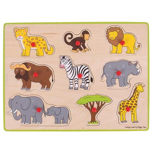 Bigjigs Lift Out Puzzle, Safari