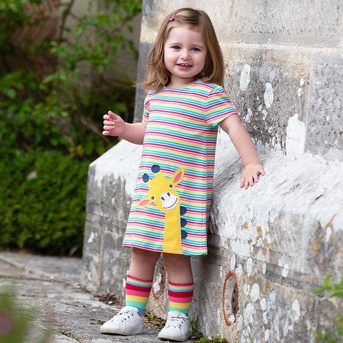Kite Rainbow Stripe Giraffe Dress