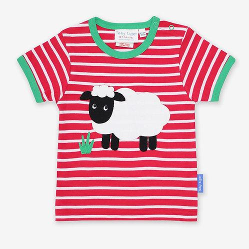 Toby Tiger Organic Sheep Applique Tshirt