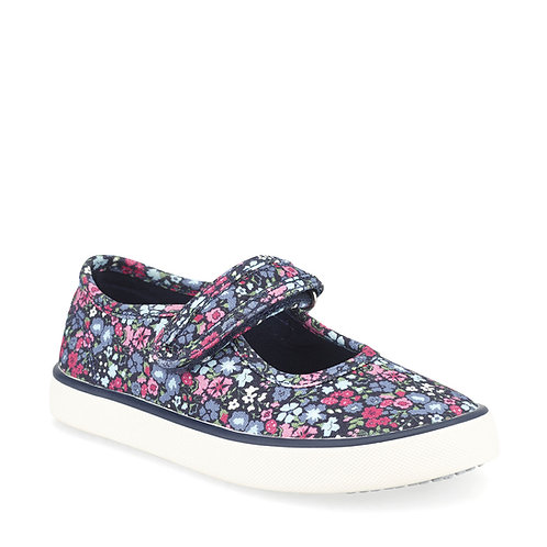 Startrite Blossom Navy Floral Canvas