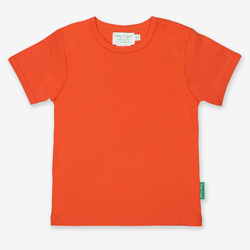 Toby Tiger Organic Basic Tshirt, Orange