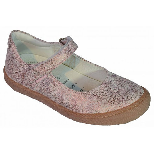 Primigi 5431000 Mary Jane Leather Shoe, Pink Crackle Effect