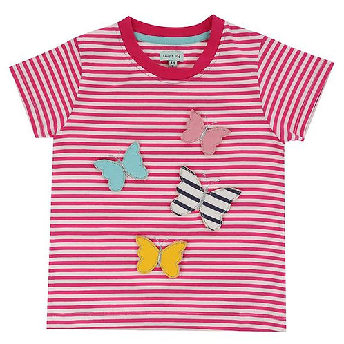 Lilly & Sid 3D Butterfly Stripe T-shirt