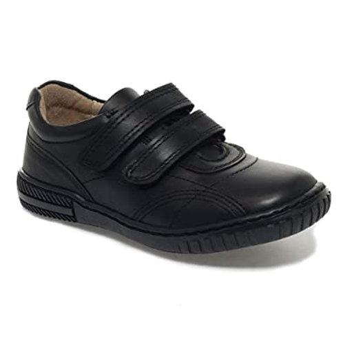 Petasil Veejay Black Leather School Shoe