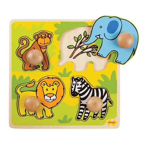 Bigjigs My First Peg Puzzle, Safari