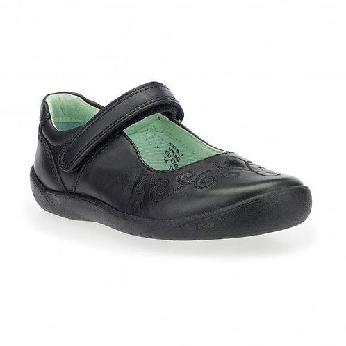 Startrite Princess Elza, Black Leather School Shoe