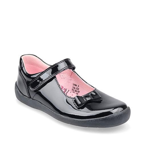 Startrite Giggle Black Patent School Shoe