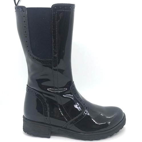 Bobell Omega Tall Boot, Black Patent