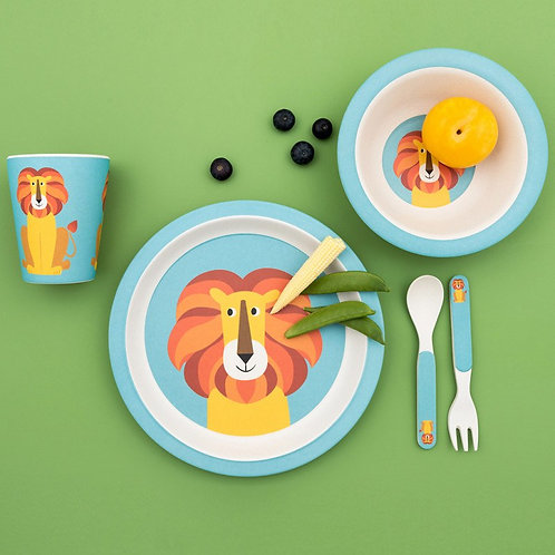 Rex London Charlie The Lion Bamboo Tableware Set
