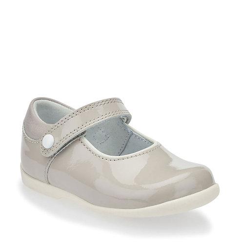 Startrite Nancy Mary Jane Shoe, Pale Grey Patent