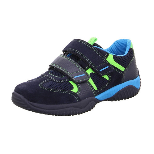 Superfit Storm Trainers, Dark Blue/Light Blue/Green