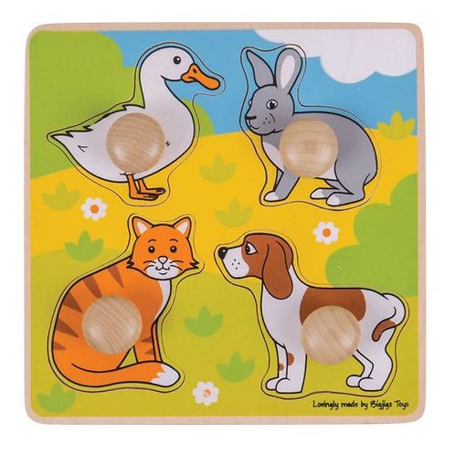 Bigjigs My First Peg Puzzle, Pets