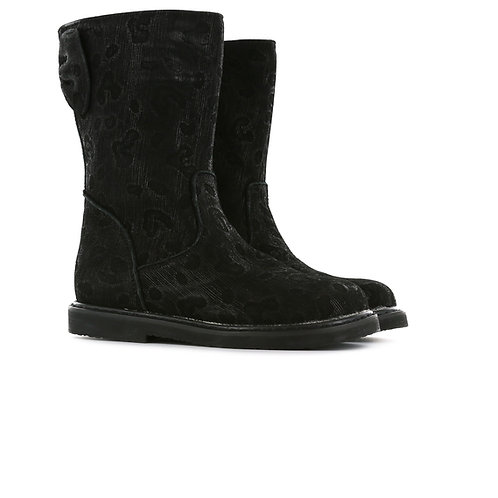 Shoesme CC20W001-C Black Boots with Animal Print Design