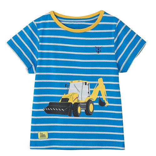 Lighthouse Mason T Shirt, Blue & Yellow Digger Print