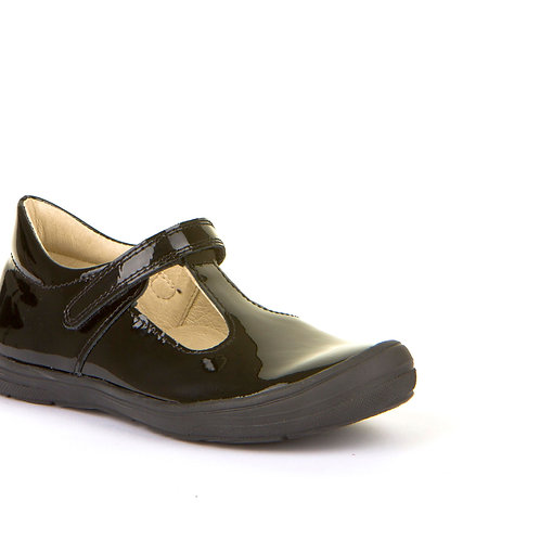 Froddo G3140110-1 Black Patent School Shoes