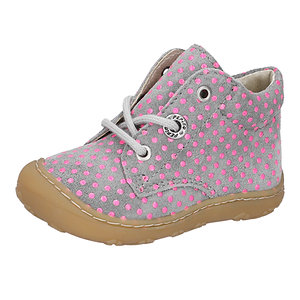 Ricosta Dots, Graphit/Mundi (Grey with Pink dots)