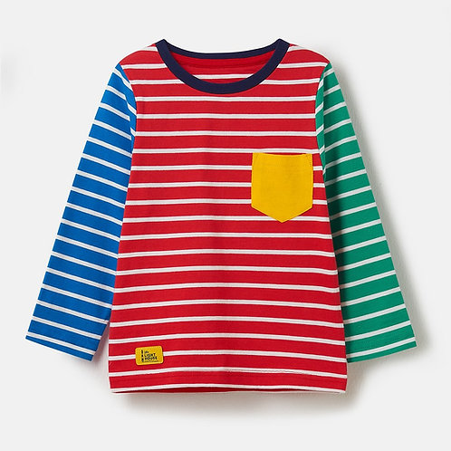 Oliver Long Sleeve Top, Multi Stripe