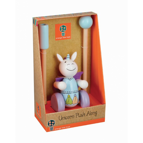 Orange Tree Toys Push Along, Unicorn