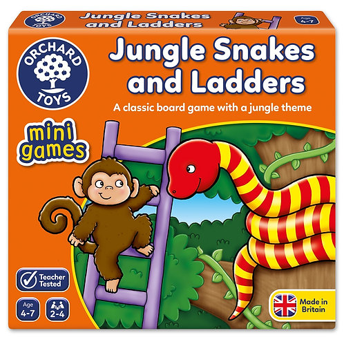 Orchard Toys Mini Game - Jungle Snakes & Ladders