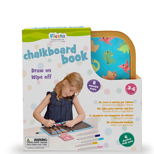Fiesta Crafts Chalkboard Book, Dinosaur