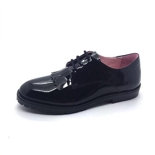 Petasil Tracey Black Patent School Shoe