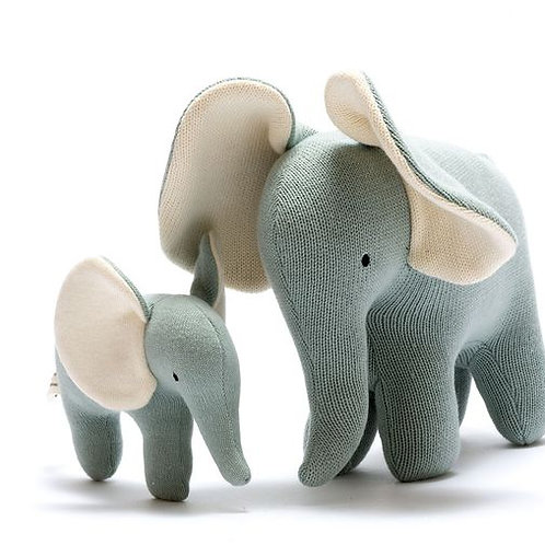 Best Years Large Knitted Elephant,Teal
