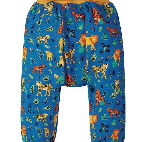 Frugi Parsnip Pants, Cobalt Big Cats