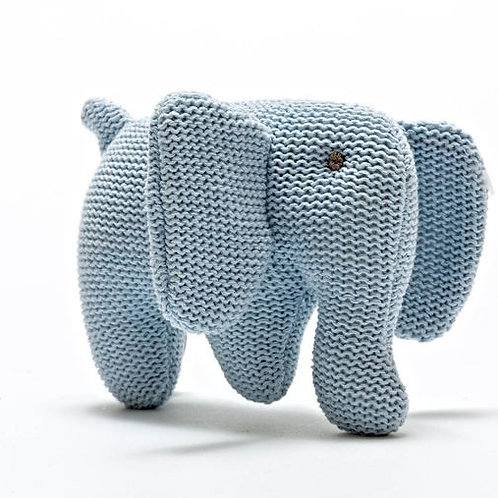 Best Years Knitted Elephant, Pastel Blue
